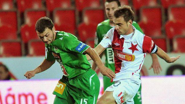 Luboš Loučka (vlevo v zeleném) se zasloužil o jablonecké vyrovnání.
