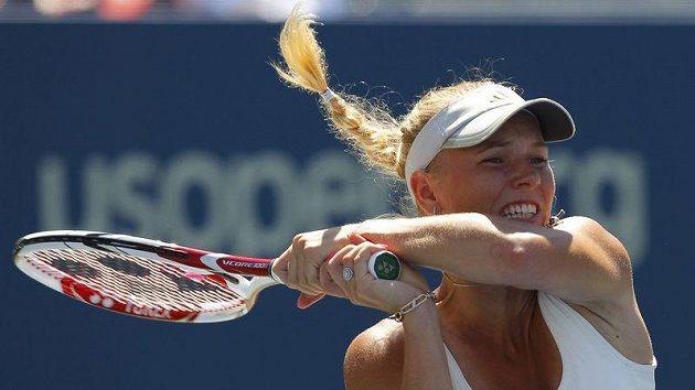 Dánská tenistka Caroline Wozniacká v 1. kole US Open vyřadila Španělku Llagosteraovou.