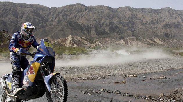 Francouz Cyril Despres v Jižní Americe během Rallye Dakar.