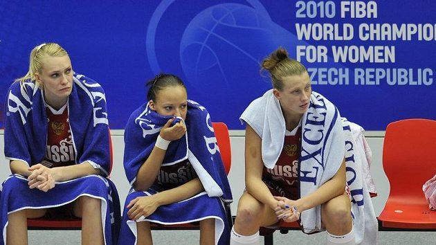 Zklamané ruské basketbalistky
