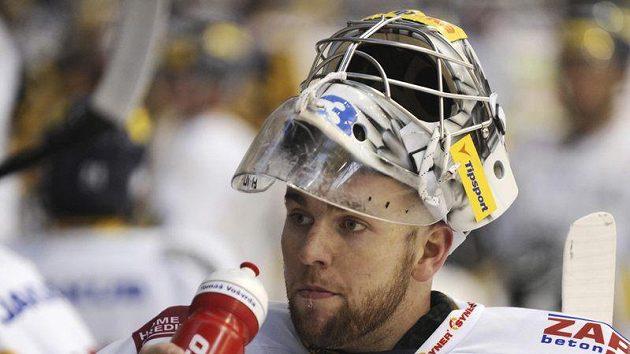 Brankář hokejistů Liberce Tomáš Vošvrda