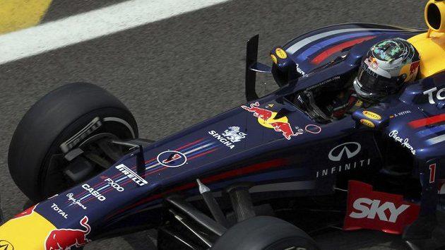 Sebastian Vettel během kvalifikace na VC Brazílie