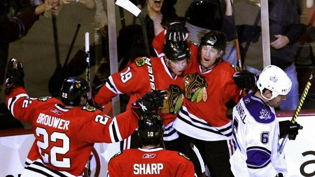 Radost hokejistů Chicaga