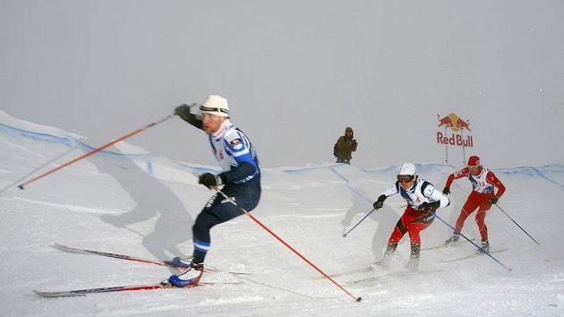 První český závod ve skikrosu na běžkách se uskutečnil na Božím Daru.