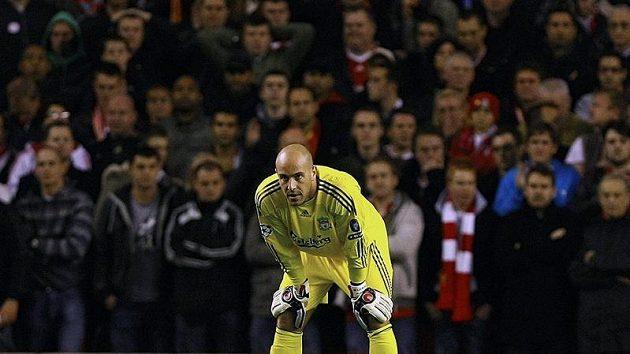 Zklamaný brankář Liverpoolu Pepe Reina