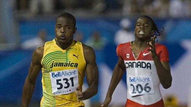 Jamajčan Dexter Lee při finálovém běhu.