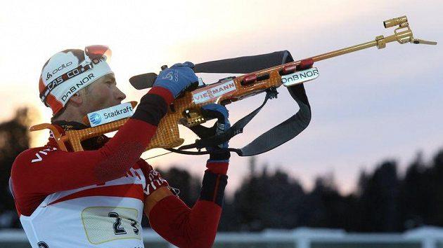 Norský biatlonista Ole Einar Björndalen na MS v Chanty Mansijsku