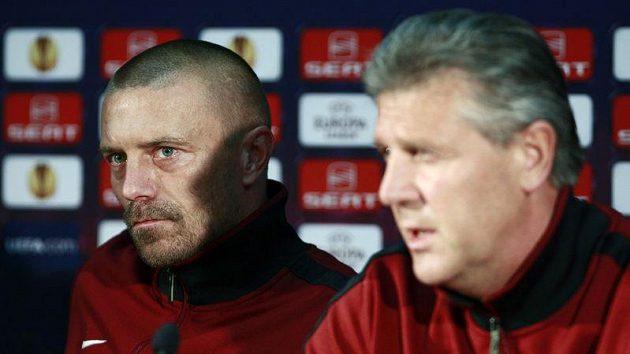 Tomáš Řepka a manažer Sparty Jozef Chovanec.