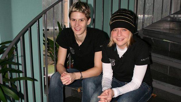 Magdalena Kotíková (vlevo) patřila spolu s Anet Jarolímovou mezi tahounky týmu Herbadent Tigers.