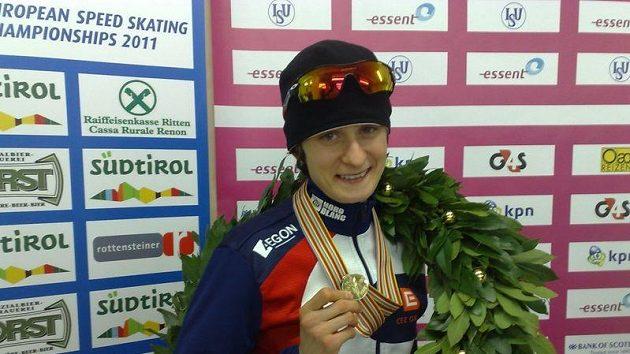 Martina Sáblíková s medailí