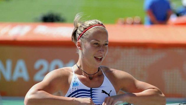 Tyčkařka Jiřina Ptáčníková měla důvod k úsměvu.