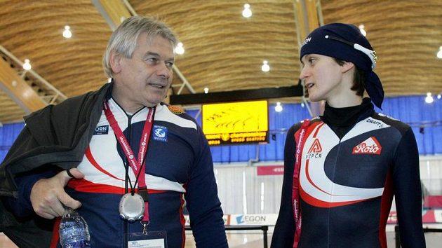 Rychlobruslařka Martina Sáblíková s trenérem Petrem Novákem