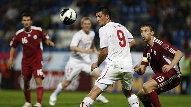 Martin Fenin v utkání proti Lotyšsku