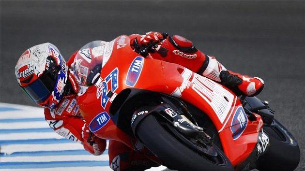 Tréninkovým jízdám královské třídy MotoGP před Velkou cenu Španělska vévodil Australan Casey Stoner na ducati.