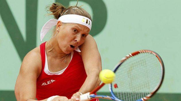 Tenistka Lucie Hradecká postoupila v Charlestonu.