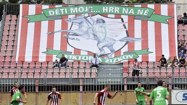 Fotbalisté Viktorie Žižkov si vychutnávali postup do první ligy závěrečným zápasem s Hlučínem.