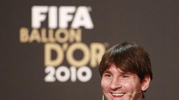 Lionel Messi na udílení ankety Zlatý míč FIFA