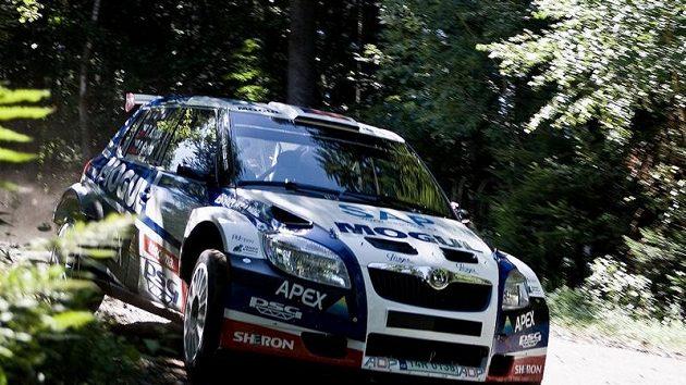 Roman Kresta se Škodou Fabia S2000, v které bude bojovat na trati Barum rallye.