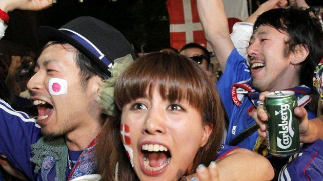 Nadšení japonských fanoušků neznalo mezí.