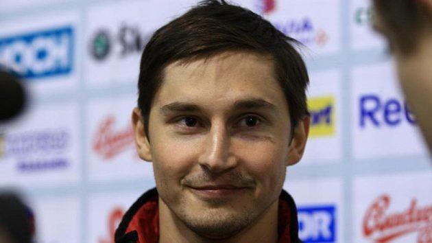 Hokejový obránce Tomáš Mojžíš