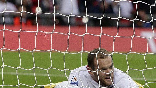 Anglický fotbalista Wayne Rooney během kvalifikačního utkání proti Andoře