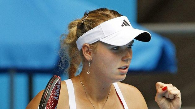 Dánská tenistka Caroline Wozniacká na Australian Open