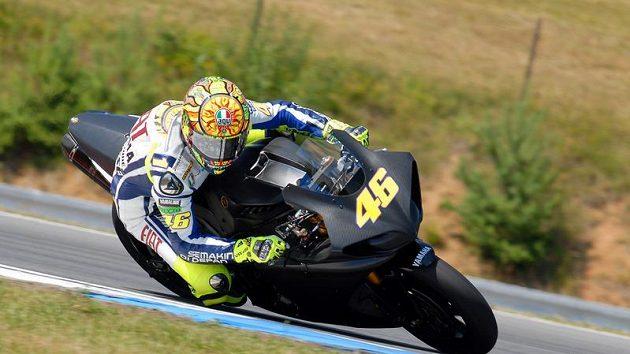 Valentino Rossi na brněnském okruhu. Ilustrační foto.