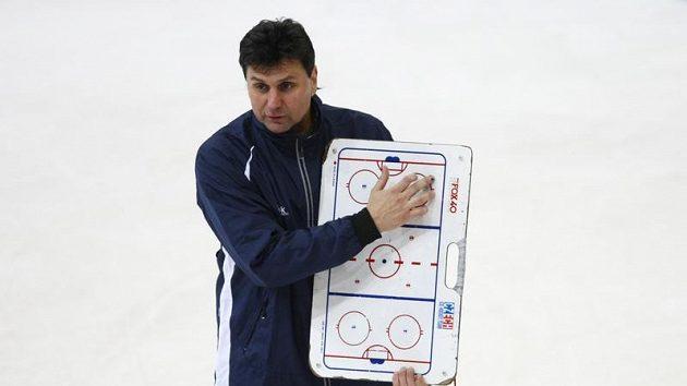 Trenér hokejové reprezentace Vladimír Růžička na tréninku