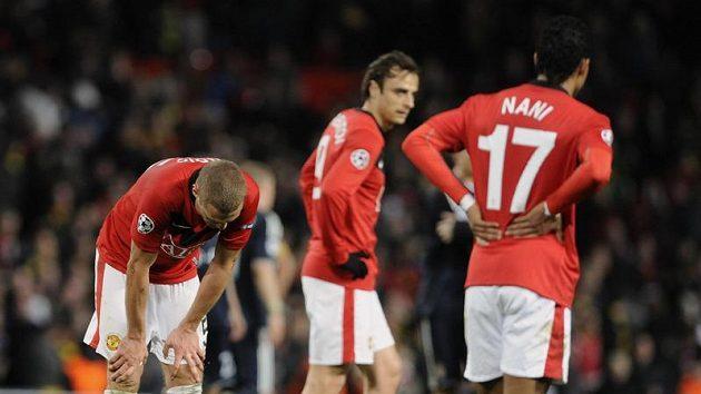 Zklamaní fotbalisté Manchesteru United. Titul letos v Premier Lague nezískali!