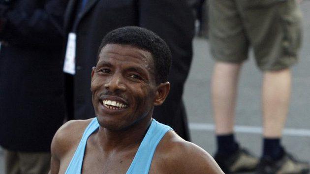 Haile Gebrselassie na maratonu v Dubaji