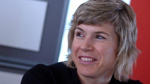 Kateřina Neumannová na vyhlášení ankety Král bílé stopy v Písku.