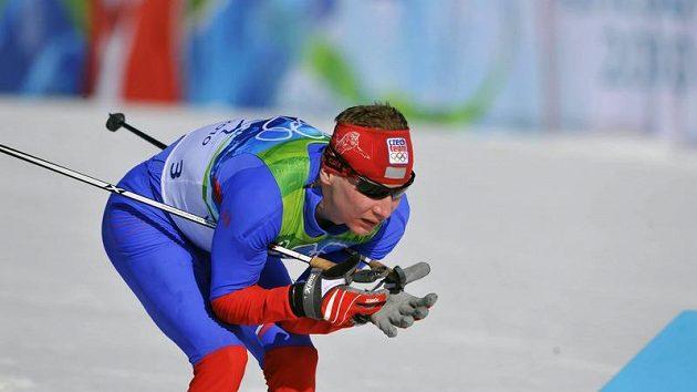 Běžec na lyžích Lukáš Bauer během olympijského skilatonu