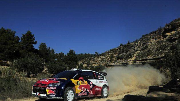 Sebastien Loeb na Katalánské rallye.