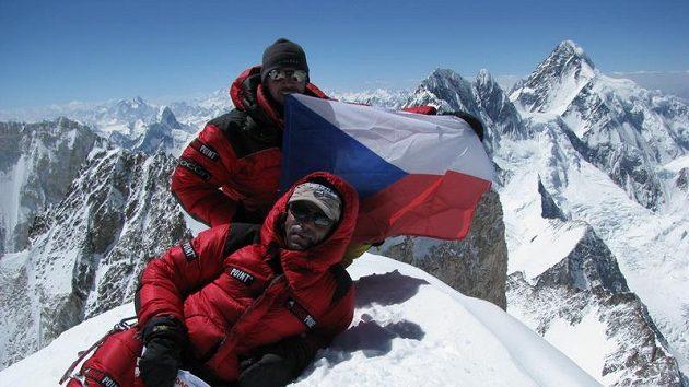Radek Jaroš na hoře Gasherbrum II