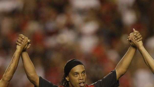 Ronaldinho v dresu Flamenga.