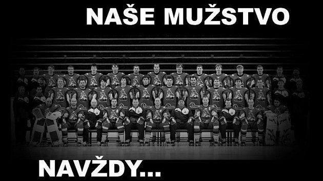 Mužstvo Lokomotivu Jaroslavl, které potkala letecká katastrofa.