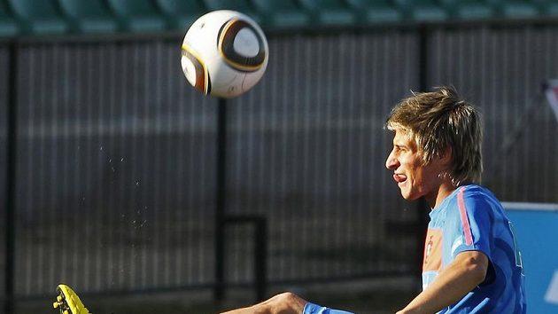 Portugalský fotbalista Fabio Coentrao na tréninku
