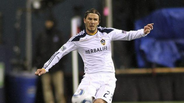 David Beckham v dresu Galaxy.