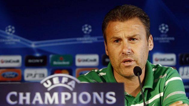 Pavel Hapal ještě jako trenér Žiliny na tiskové konferenci před duelem se Spartou.