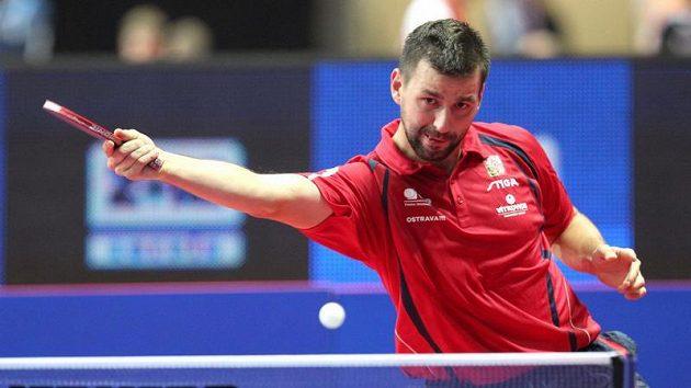 Český stolní tenista Josef Šimončík