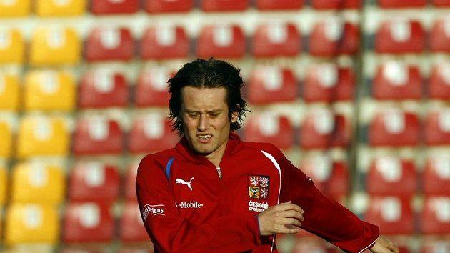 Tomáš Rosický na tréninku národního týmu
