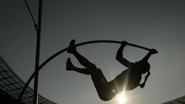 Ruská tyčkařka Jelena Isinbajevová na mistrovství světa v Berlíně