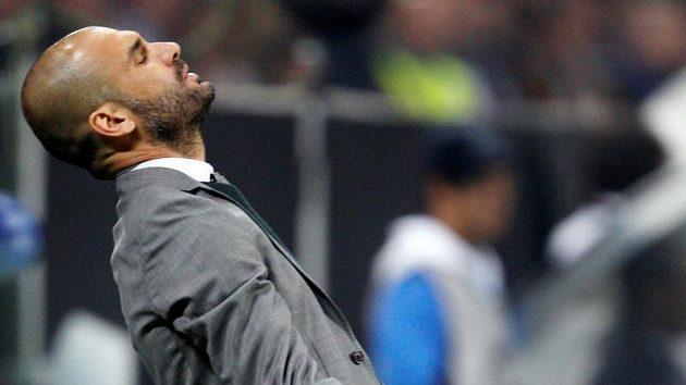 Trenér Barcelony Pep Guardiola.