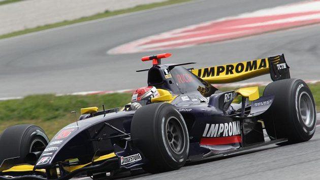 Josef Král při závodě šampionátu GP2.