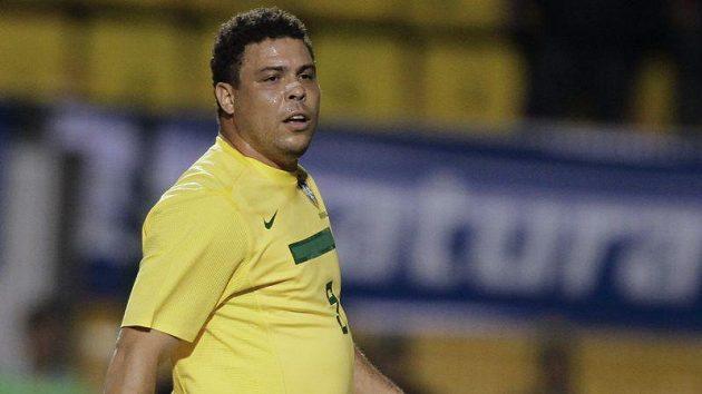 Ronaldo ve svém posledním utkání za brazilskou reprezentaci
