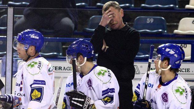 Trenér hokejistů Kladna Otakar Vejvoda starší dnes rezignoval