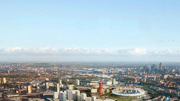 Vizualizace Olympijského parku v Londýně pro OH 2012.