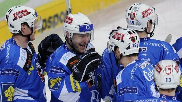 Radost hokejistů Plzně.