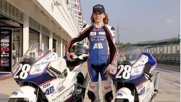 Český motocyklista Karel Hanika.