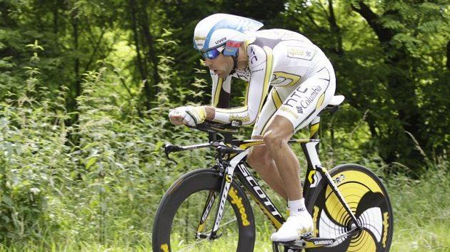 František Raboň se už potřetí stal mistrem republiky v cyklistické časovce.